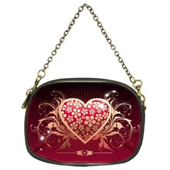 Heart Patterns Lines  Chain Purses (two Sides)