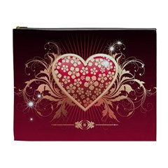 Heart Patterns Lines  Cosmetic Bag (xl)