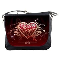 Heart Patterns Lines  Messenger Bags