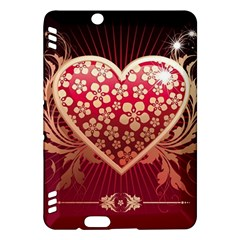 Heart Patterns Lines  Kindle Fire Hdx Hardshell Case