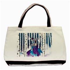 Girl Forest Trees Basic Tote Bag (two Sides)