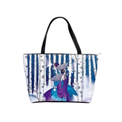 Girl Forest Trees Shoulder Handbags