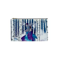 Girl Forest Trees Cosmetic Bag (small)