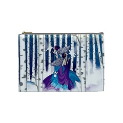 Girl Forest Trees Cosmetic Bag (medium)