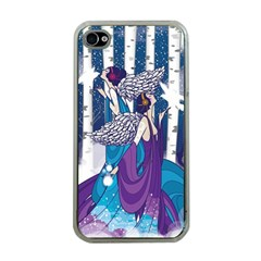 Girl Forest Trees Apple Iphone 4 Case (clear)