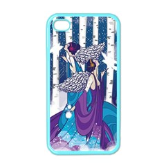 Girl Forest Trees Apple Iphone 4 Case (color)