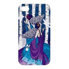 Girl Forest Trees Apple Iphone 4/4s Hardshell Case