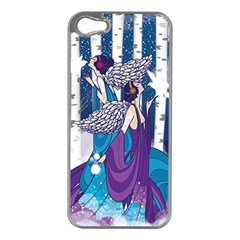 Girl Forest Trees Apple Iphone 5 Case (silver)