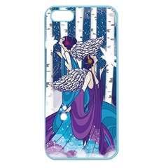 Girl Forest Trees Apple Seamless Iphone 5 Case (color)