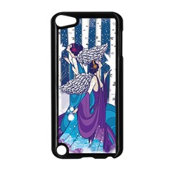 Girl Forest Trees Apple Ipod Touch 5 Case (black)
