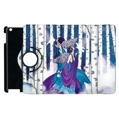 Girl Forest Trees Apple Ipad 3/4 Flip 360 Case