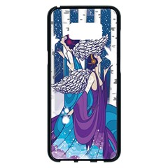 Girl Forest Trees Samsung Galaxy S8 Plus Black Seamless Case