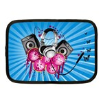 Speakers Headphones Colorful  Netbook Case (Medium)  Front