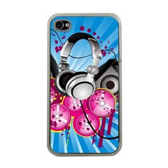 Speakers Headphones Colorful  Apple Iphone 4 Case (clear)