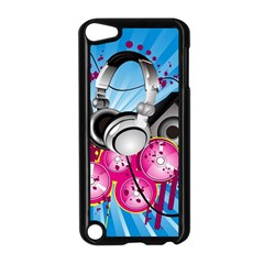 Speakers Headphones Colorful  Apple Ipod Touch 5 Case (black)