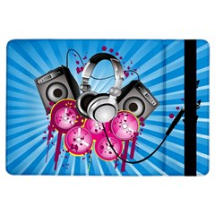 Speakers Headphones Colorful  Ipad Air Flip