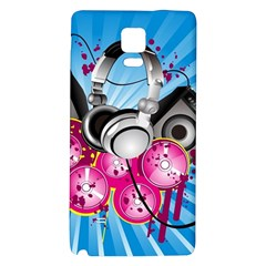 Speakers Headphones Colorful  Galaxy Note 4 Back Case