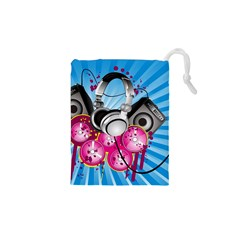 Speakers Headphones Colorful  Drawstring Pouches (xs)
