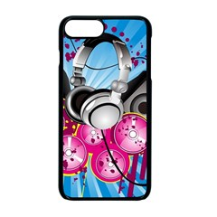 Speakers Headphones Colorful  Apple Iphone 7 Plus Seamless Case (black)