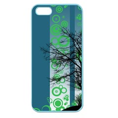 Tree Circles Lines  Apple Seamless Iphone 5 Case (color)