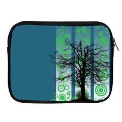 Tree Circles Lines  Apple Ipad 2/3/4 Zipper Cases