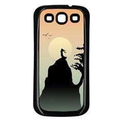 Cliff Mountain Tree  Samsung Galaxy S3 Back Case (black)