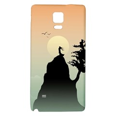 Cliff Mountain Tree  Galaxy Note 4 Back Case