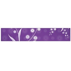 Flowers Leaves Purple  Flano Scarf (large)