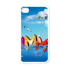 Summer Sea Clouds  Apple Iphone 4 Case (white)