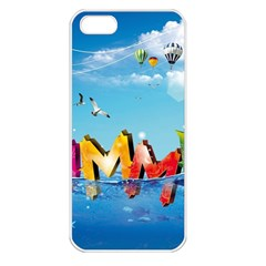 Summer Sea Clouds  Apple Iphone 5 Seamless Case (white)