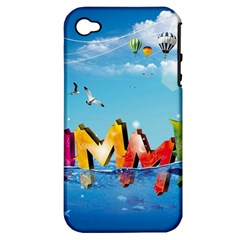 Summer Sea Clouds  Apple Iphone 4/4s Hardshell Case (pc+silicone)