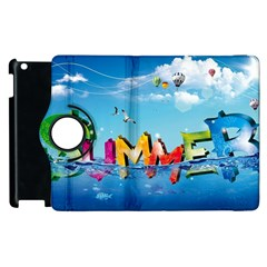 Summer Sea Clouds  Apple Ipad 2 Flip 360 Case