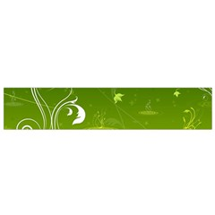 Patterns Green Background  Flano Scarf (small)
