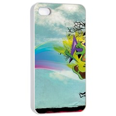 Man Crazy Surreal  Apple Iphone 4/4s Seamless Case (white)