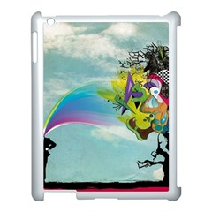 Man Crazy Surreal  Apple Ipad 3/4 Case (white)
