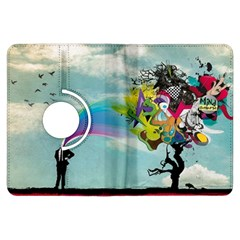 Man Crazy Surreal  Kindle Fire Hdx Flip 360 Case