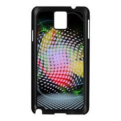 Colorful Lines Dots  Samsung Galaxy Note 3 N9005 Case (black)
