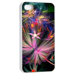Patterns Lines Bright  Apple Iphone 4/4s Seamless Case (white)