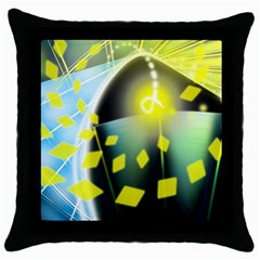 Line Light Form  Throw Pillow Case (black)