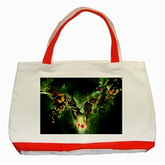 Leaves Explosion Line  Classic Tote Bag (red)