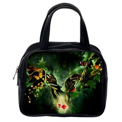 Leaves Explosion Line  Classic Handbags (one Side)