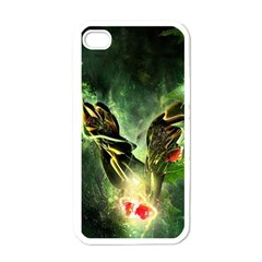 Leaves Explosion Line  Apple Iphone 4 Case (white)