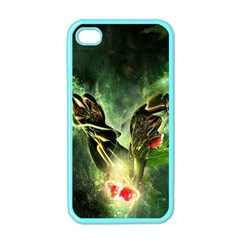 Leaves Explosion Line  Apple Iphone 4 Case (color)