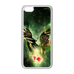 Leaves Explosion Line  Apple Iphone 5c Seamless Case (white)