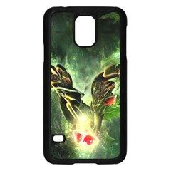 Leaves Explosion Line  Samsung Galaxy S5 Case (black)