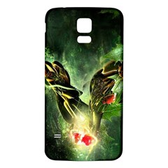 Leaves Explosion Line  Samsung Galaxy S5 Back Case (white)