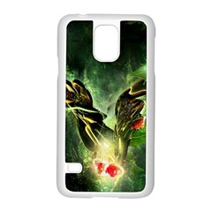 Leaves Explosion Line  Samsung Galaxy S5 Case (white)
