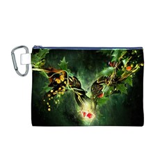 Leaves Explosion Line  Canvas Cosmetic Bag (m)
