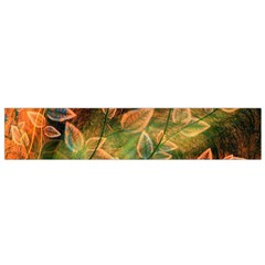 Leaves Plant Multi Colored  Flano Scarf (small)