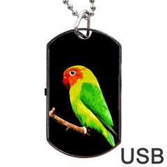 Parrot  Dog Tag Usb Flash (one Side)